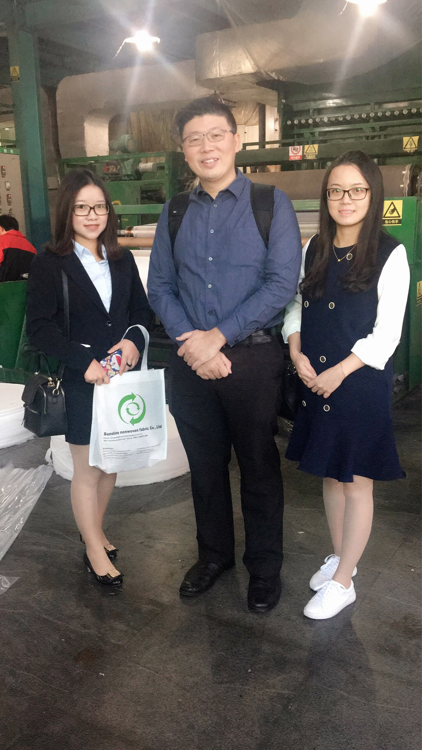 Welcome Mr Goh Joo Hee visit our Sunshine Nonwoven Company